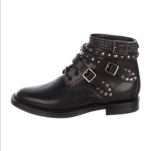 Saint Laurent rangers boots size 8.5 with box tags